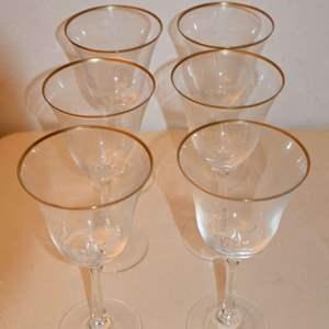 Lot # 102 LENOX CRYSTAL wine glasses