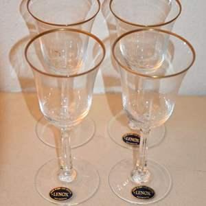 Lot # 104 LENOX CRYSTAL glasses