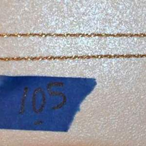 """Lot # 105 14K yellow gold 24"""" necklace 4.2g"""