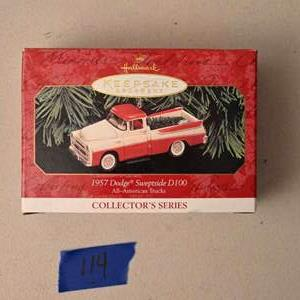 Lot # 114 Hallmark Keepsakes 1957 Dodge Sweptside D100 Christmas ornament *NEW*