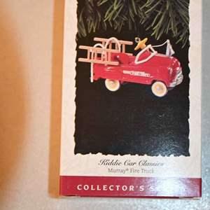 Lot # 120 Hallmark Keepsakes Murray Fire Truck Kiddie car classics Christmas ornament *NEW*