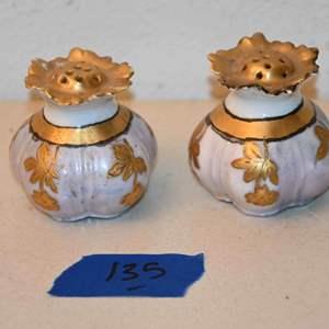 Lot # 135 Antique salt & pepper shakers