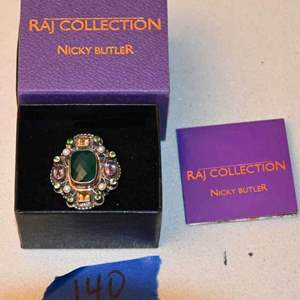 """Lot # 140 NICKY BUTLER """"RAJ COLLECTION"""" sterling ring size 9 LMT EDITION #169/750"""