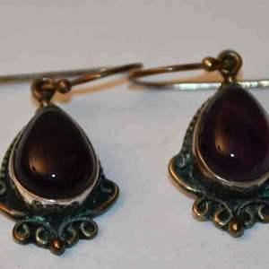 Lot # 149 Sterling silver amethyst earrings 6.6g
