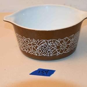 Lot # 154 PYREX brown casserole dish NO LID