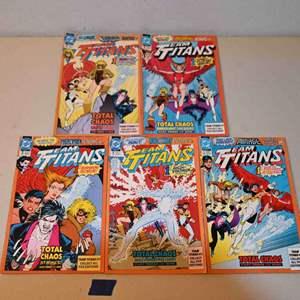 Lot # 158 TEAM TITANS #1 DC Comics 5 variant covers