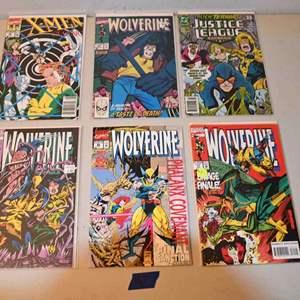 Lot # 167 X-MEN, WOLVERINE, JUSTICE LEAGUE comics lot