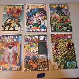Lot # 168 WOLVERINE, JUSTICE LEAGUE comics lot