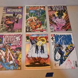 Lot # 169 WOLVERINE & JUSTICE LEAGUE comics lot