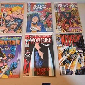 Lot # 170 JUSTICE LEAGUE & WOLVERINE comics lot