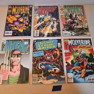 Lot # 171 WOLVERINE & JUSTICE LEAGUE comics lot