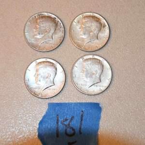 Lot # 181 Four KENNEDY 90% silver half-dollars