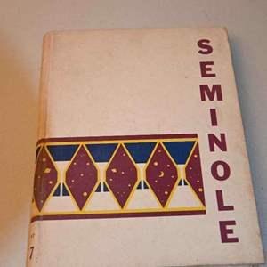 "Lot # 192 University of Florida 1957 yearbook ""The Seminole"""