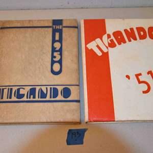 Lot # 193 ORLANDO High School TIGANDO 1950 + 1951 yearbooks