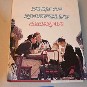 Lot # 196 NORMAN ROCKWELL'S AMERICA coffee table book