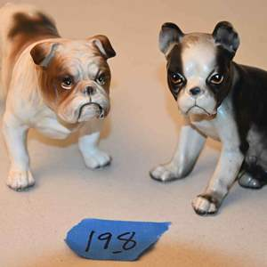 Lot # 198 Two vintage JAPAN dog figurines