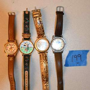 Lot # 199 Mickey mouse, GUESS, misc watches