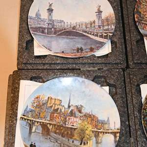 Lot # 212 Limoges France - Louis Dali - Henri d ' Arceau 6 plates with COAs