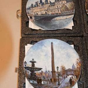 Lot # 213 Limoges France - Louis Dali - Henri d ' Arceau 6 plates with COAs