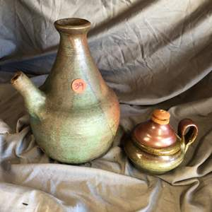 Lot # 39 TWO POTTERY PIECES