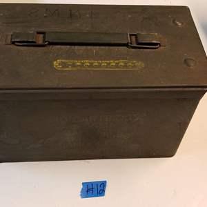 Lot # 12 Metal Munitions Box (empty)