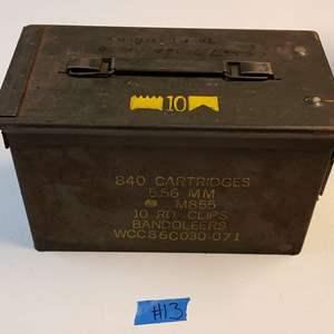 Lot # 13 Metal Munitions Box