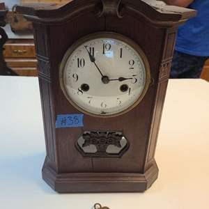 Lot # 38 Wood Mantle Clock