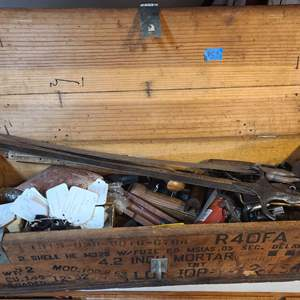 Lot # 53 Large Ammo Crate Full of Making Supplies