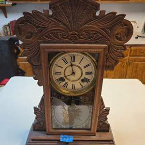 Lot # 57 Wood Mantle Clock