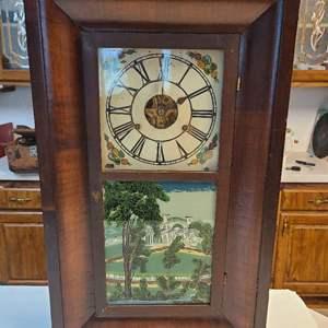 Lot # 64 Vintage Brass Workings Mantle Clock