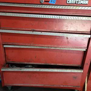 Lot # 72 Craftsman Tool Box FULL of Various Tools - See Pictures & Description