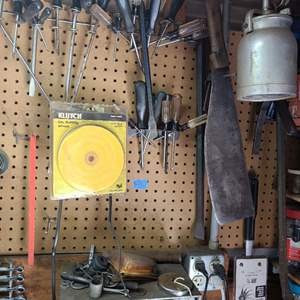Lot # 91 Lot Of Various Tools And Garage Needs