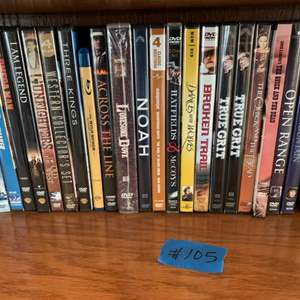 Lot # 105  Lot Of Various Movies