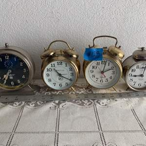 Lot # 111 Lot of 4 Vintage Table Clocks