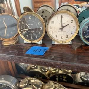 Lot # 118 Lot of 4 Vintage Table Clocks