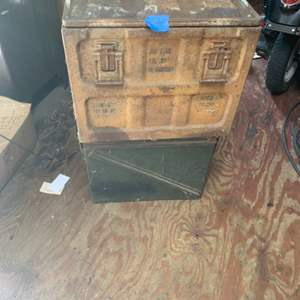 Lot # 123 Lot of 2 Metal Containers