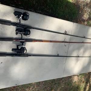 Lot # 126 Lot of Fishing Poles & Reels