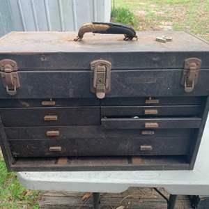 Lot # 128 Metal Tool Box