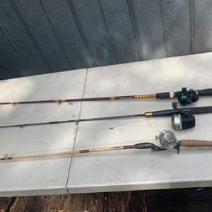 Lot # 131 Lot of Fishing Poles & Reels