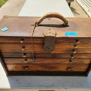 Lot # 137 Vintage Small Tools Box