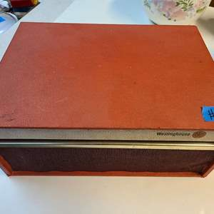 Lot # 144 Vintage WestingHouse Suitcase Record Player