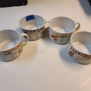 Lot # 148 Retro Soup Recipe Soup Mugs