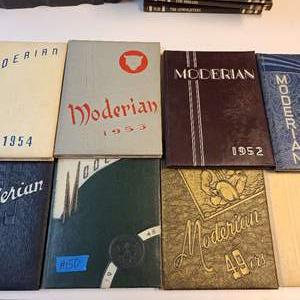Lot # 150 Lot of 8 Moderian School Year Books (1948-1955)