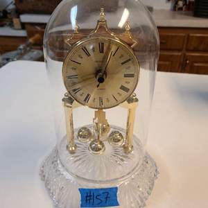 Lot # 157 Shannon Glass Bottom Clock W/ Glass Dome