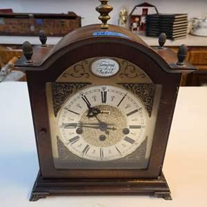 """Lot # 158 Vintage Bulova """"Tempus Fugile"""" Clock"""