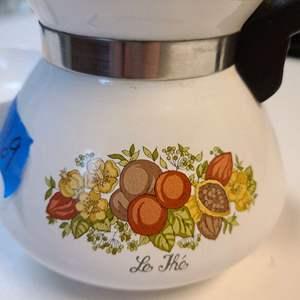 Lot # 169 Corning Wear Kettle & Small Pan