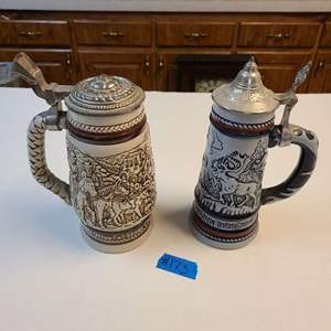 Lot # 173 Lot of 2 AVON Steins (Year of Each in Pictures)