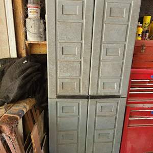 Lot # 209 Plastic Storage Cabinet