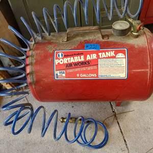 Lot # 221 Air Works Portable Air Tank W/ Hose