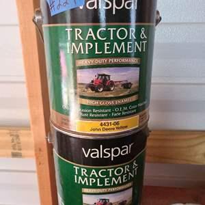 Lot # 229 Valspar Tractor Paint in John Deere Yellow